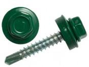 Саморез кровельный по металлу 5,5х19 зеленый RAL6005 (50шт)