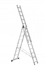 Лестница 3-секционная 402х704х1022см алюминиевая профессиональная